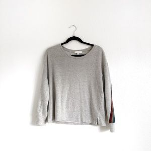 Eri & Ali Rainbow Stripe Sweatshirt Grey Size S
